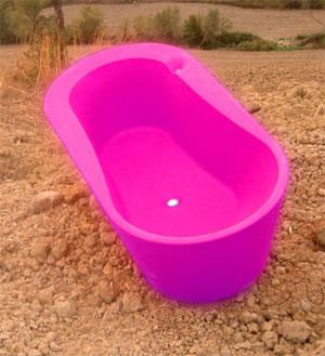 badekar fritstående firkantet